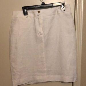Banana republic linen white skirt